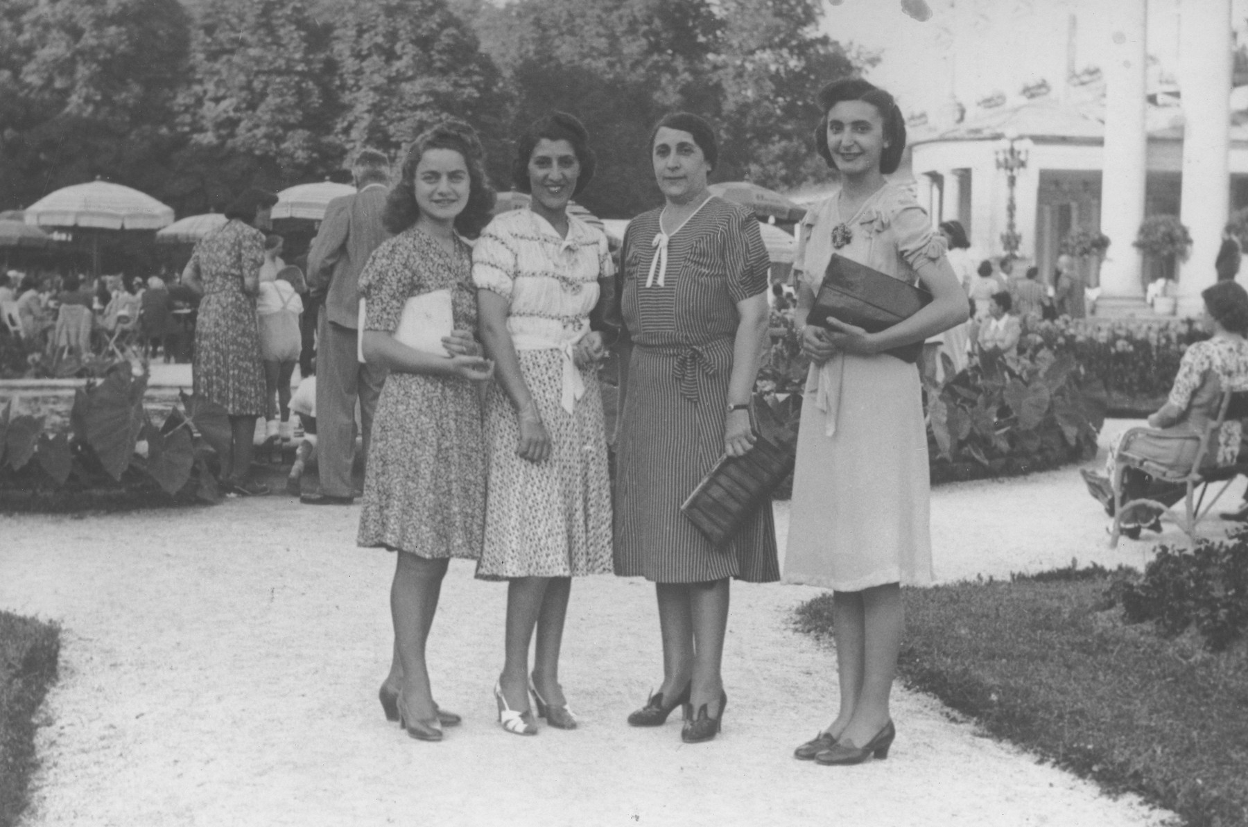 Florica Kabilio poses with her mother and two aunts at a resort in Zagreb.