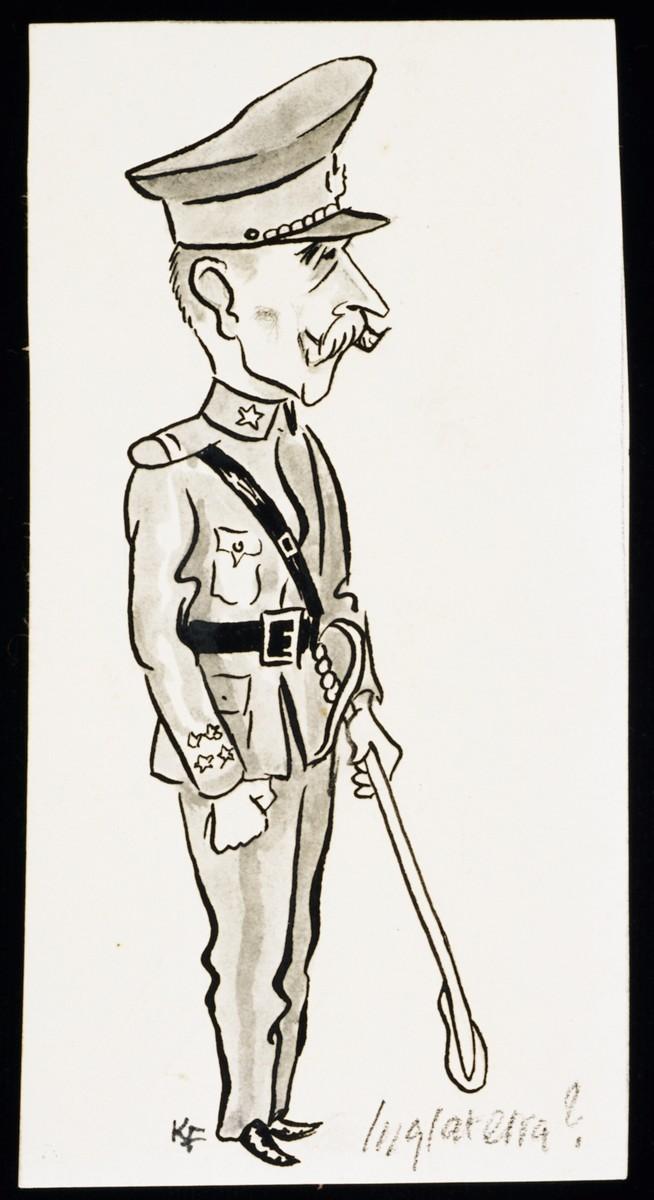"""""""World War II Personalities in Cartoons/Originals done for 'La Nacion' Santo Domingo, 1939-1946"""" by Klaus Martin Frank."""