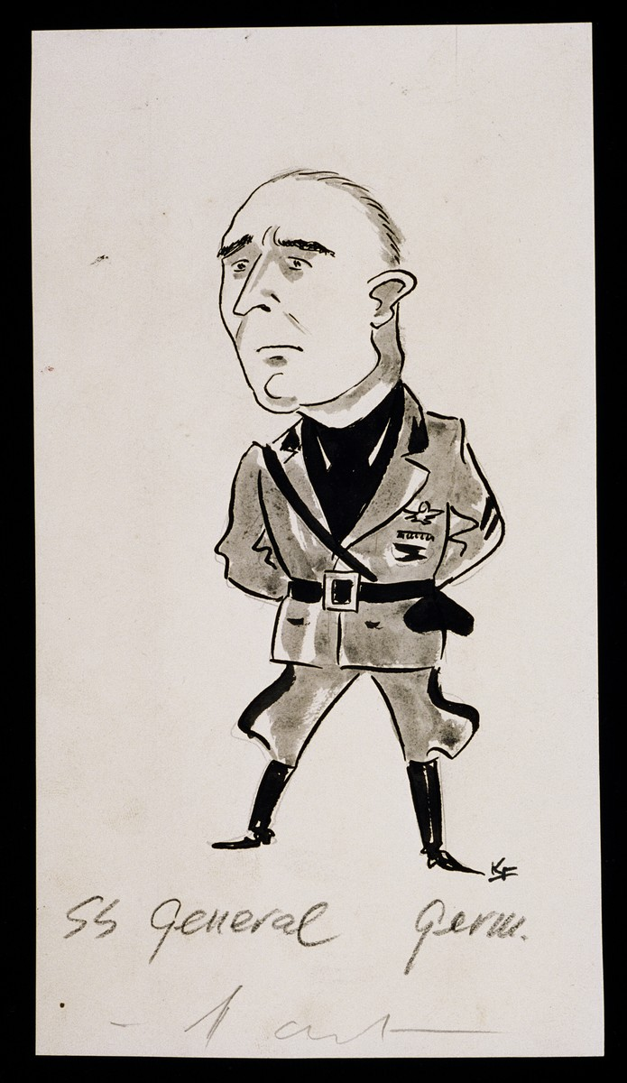 """World War II Personalities in Cartoons/Originals done for 'La Nacion' Santo Domingo, 1939-1946"" by Klaus Martin Frank."