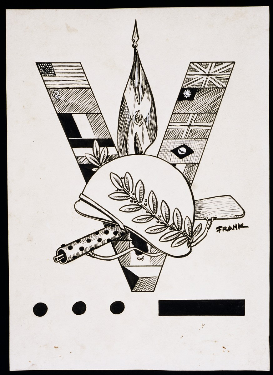 """World War II Personalities in Cartoons/Originals done for 'La Nacion' Santo Domingo, 1939-1946""  Sketchbook of Nazi caricatures by Klaus Martin Frank."
