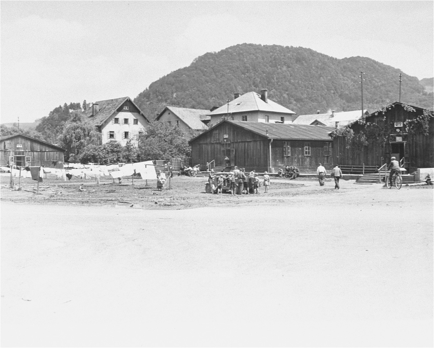 View of one of the Salzburg displaced persons camps.