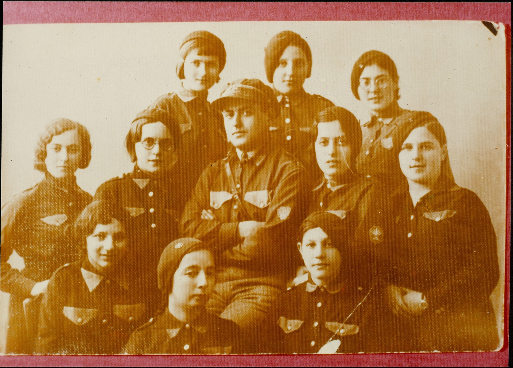 Members of the Betar Zionist youth group.   Pictured include Shoshana and Tzipora Hutner.