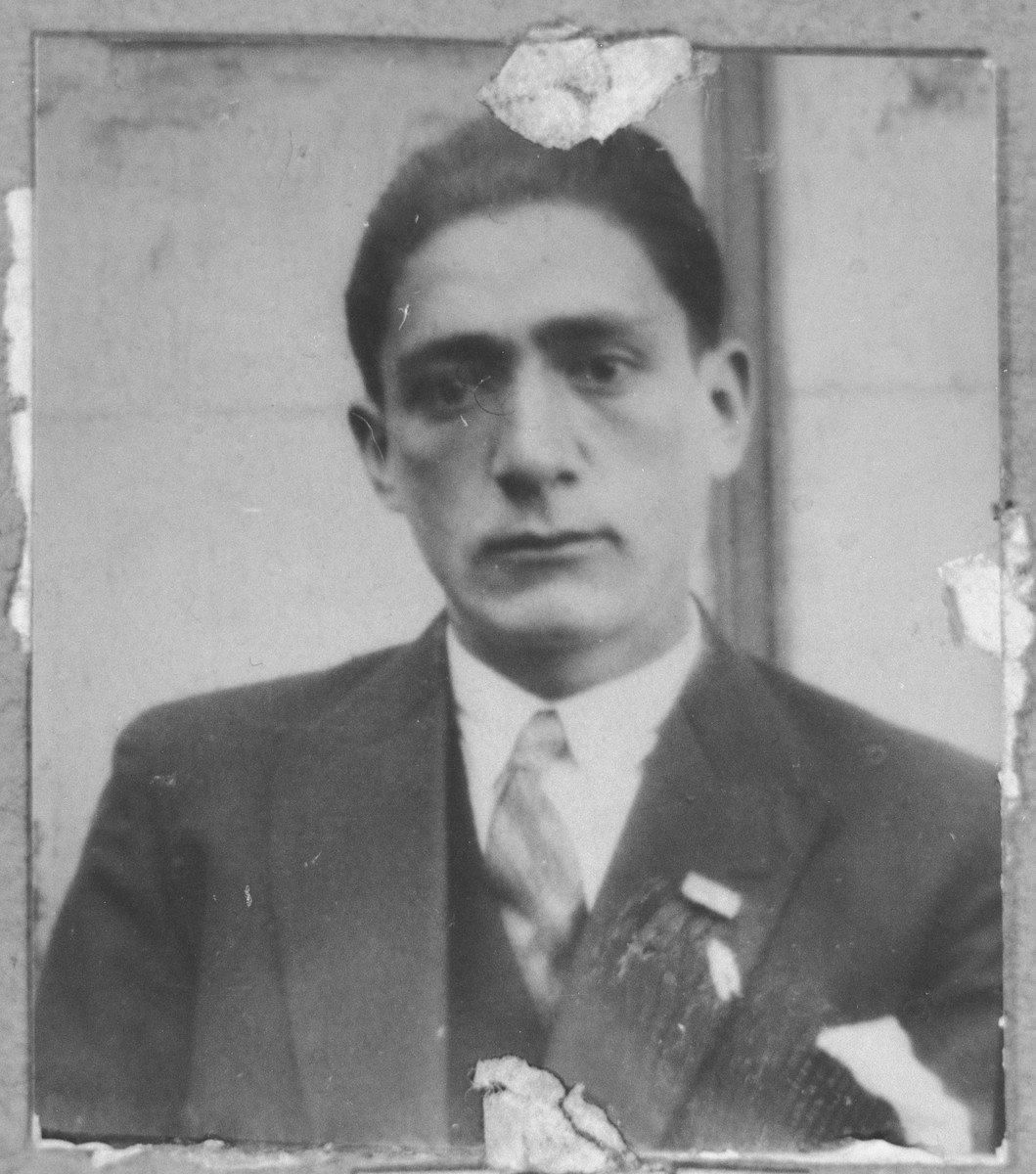 Portrait of Rafael Testa, son of Mordechai Testa.  He was a tailor.  He lived on Asadbegova in Bitola.