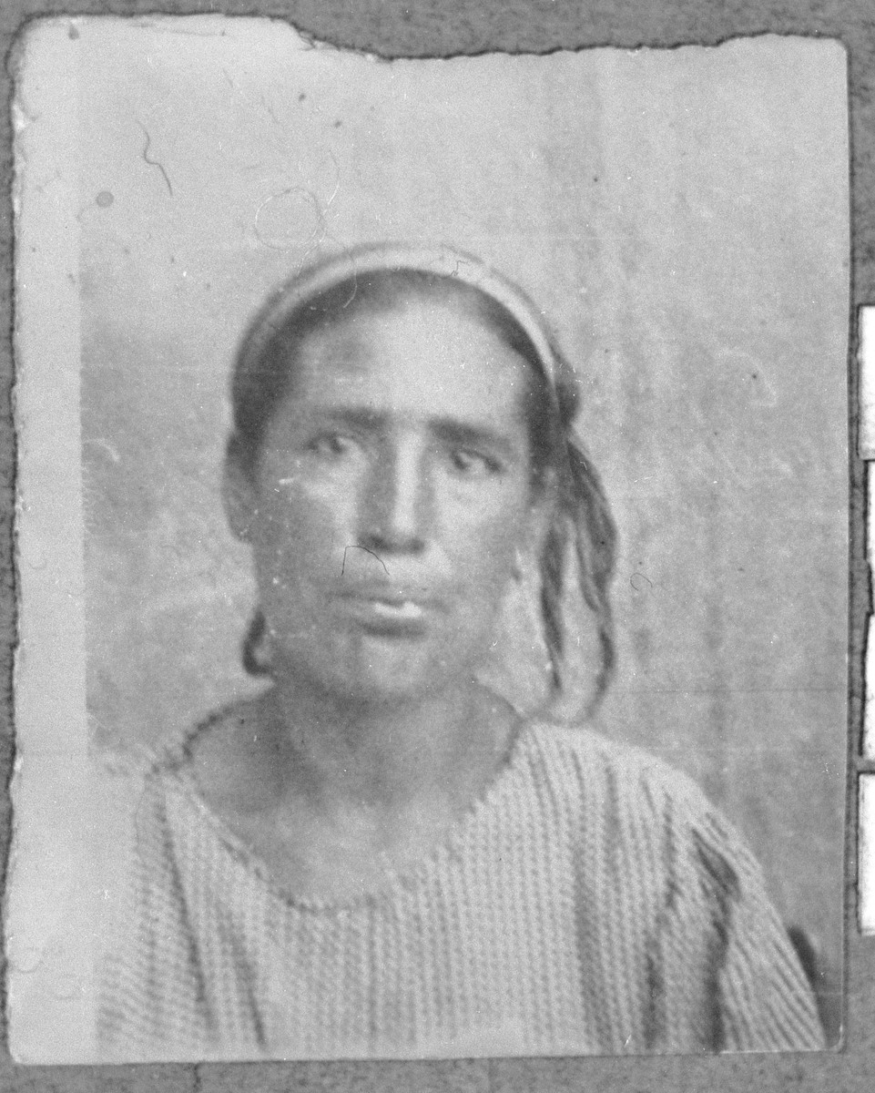 Portrait of Sara Hasson, wife of Avram Hasson.