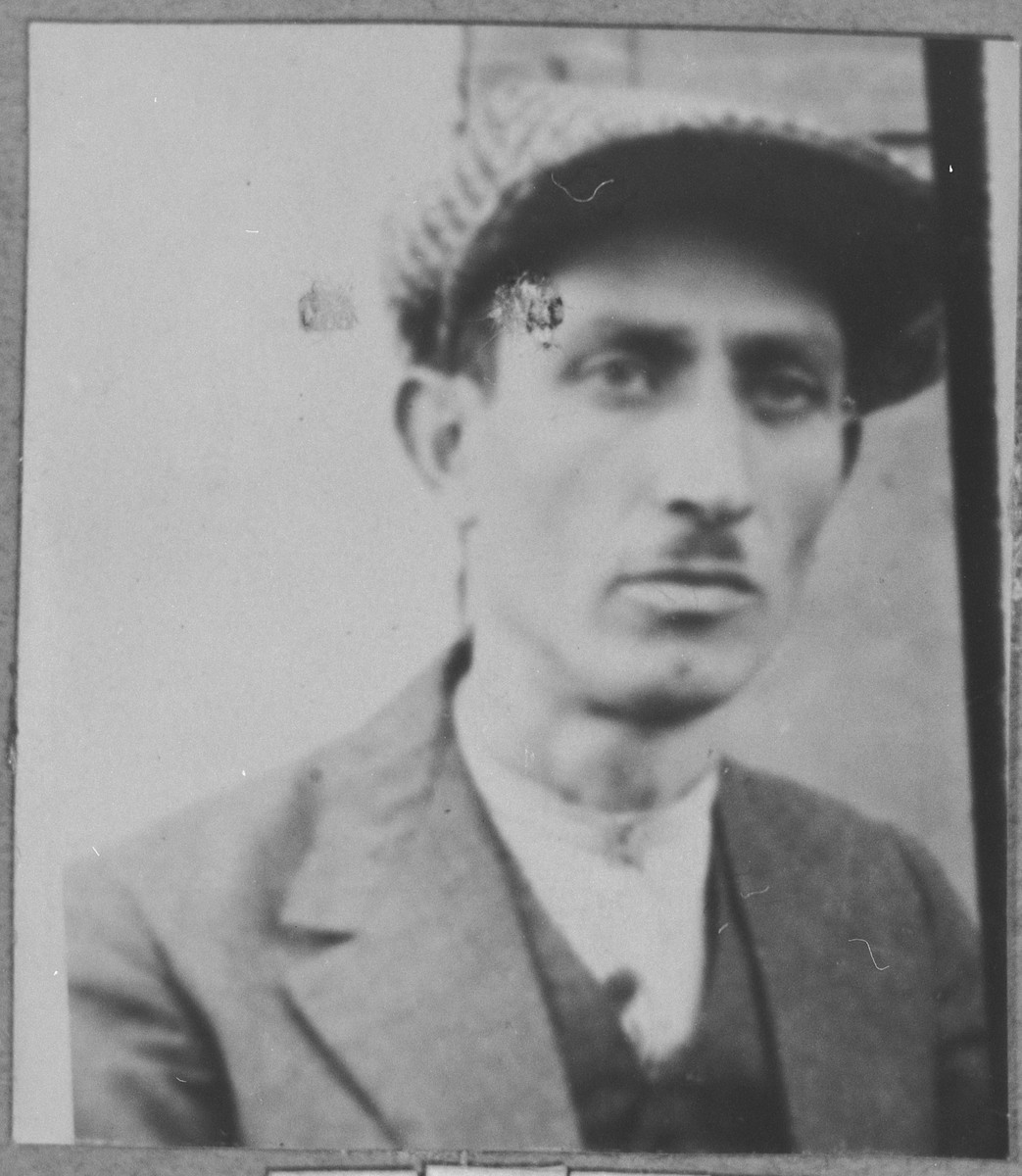 Portrait of Avram (K.) Hasson.  He was a tailor.  He lived at Sinagogina 6 in Bitola.