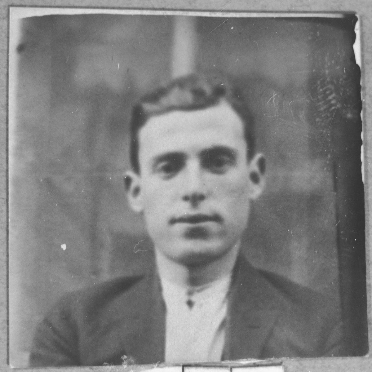 Portrait of Mois Talvi.  He was a second-hand dealer.  He lived at Asadbegova 24 in Bitola.