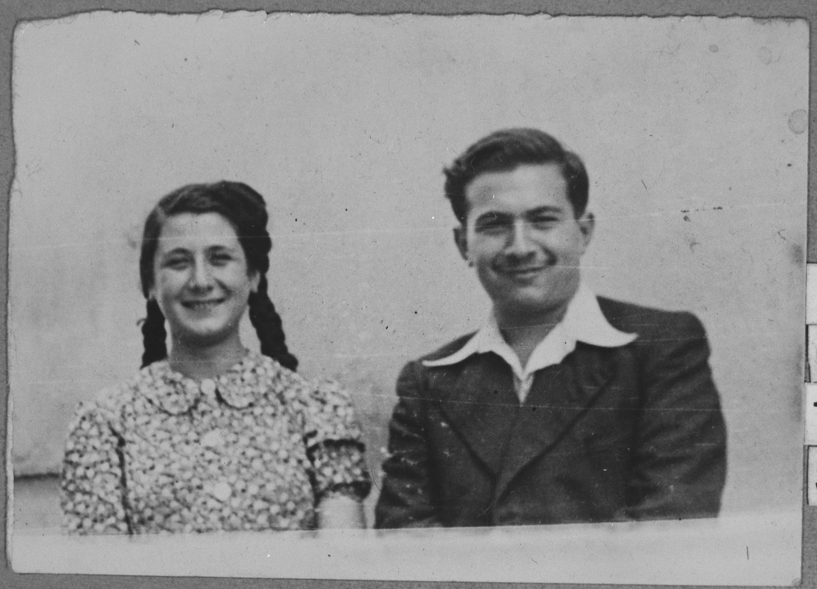 Portrait of Isak Faradji, son of David Faradji, and Rebeka Faradji, daughter of David Faradji.  They were students.  They lived at Alimpika 12 in Bitola.