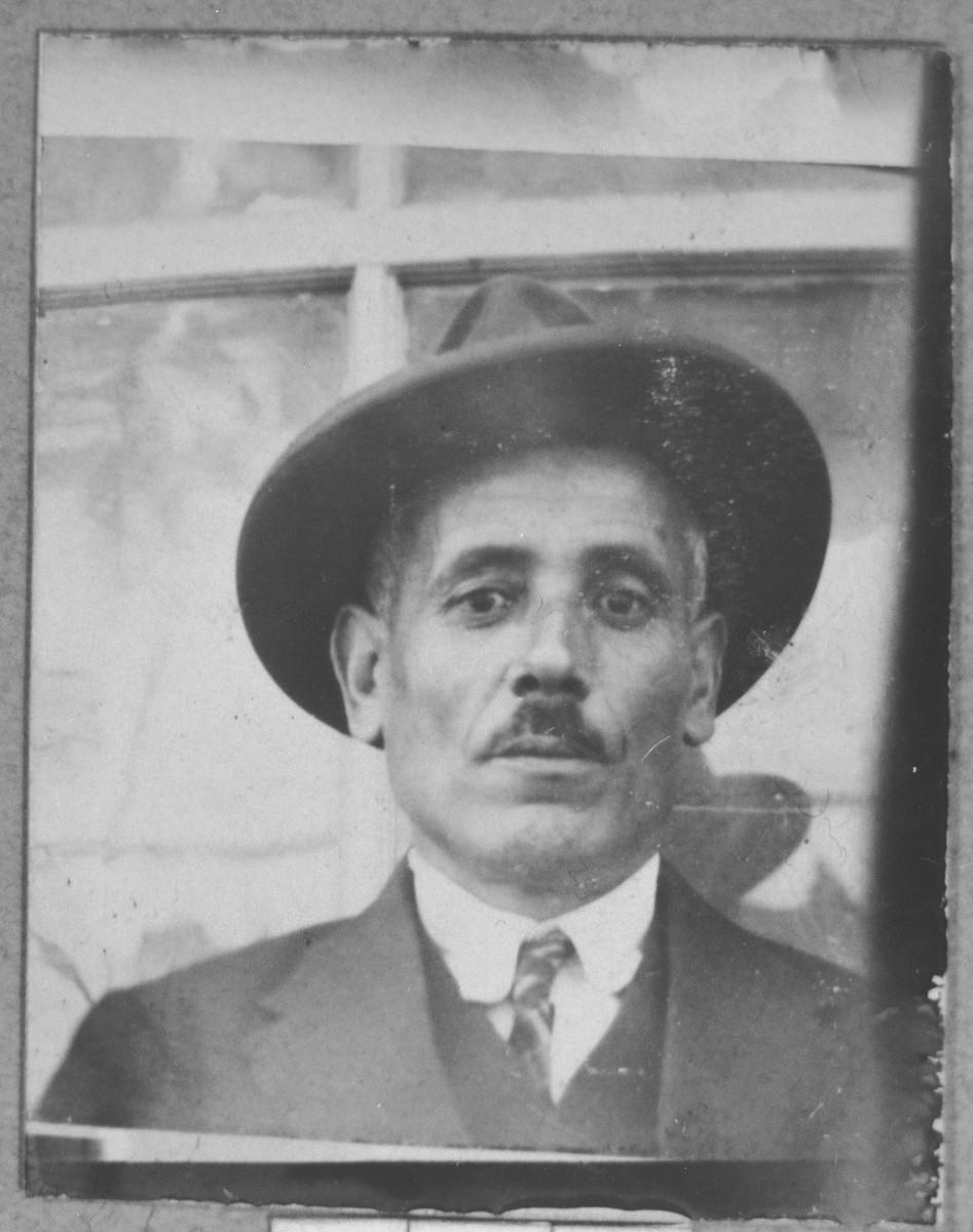 Portrait of Solomon Talvi.  He was a grocer.  He lived on Gen. Boyevich.