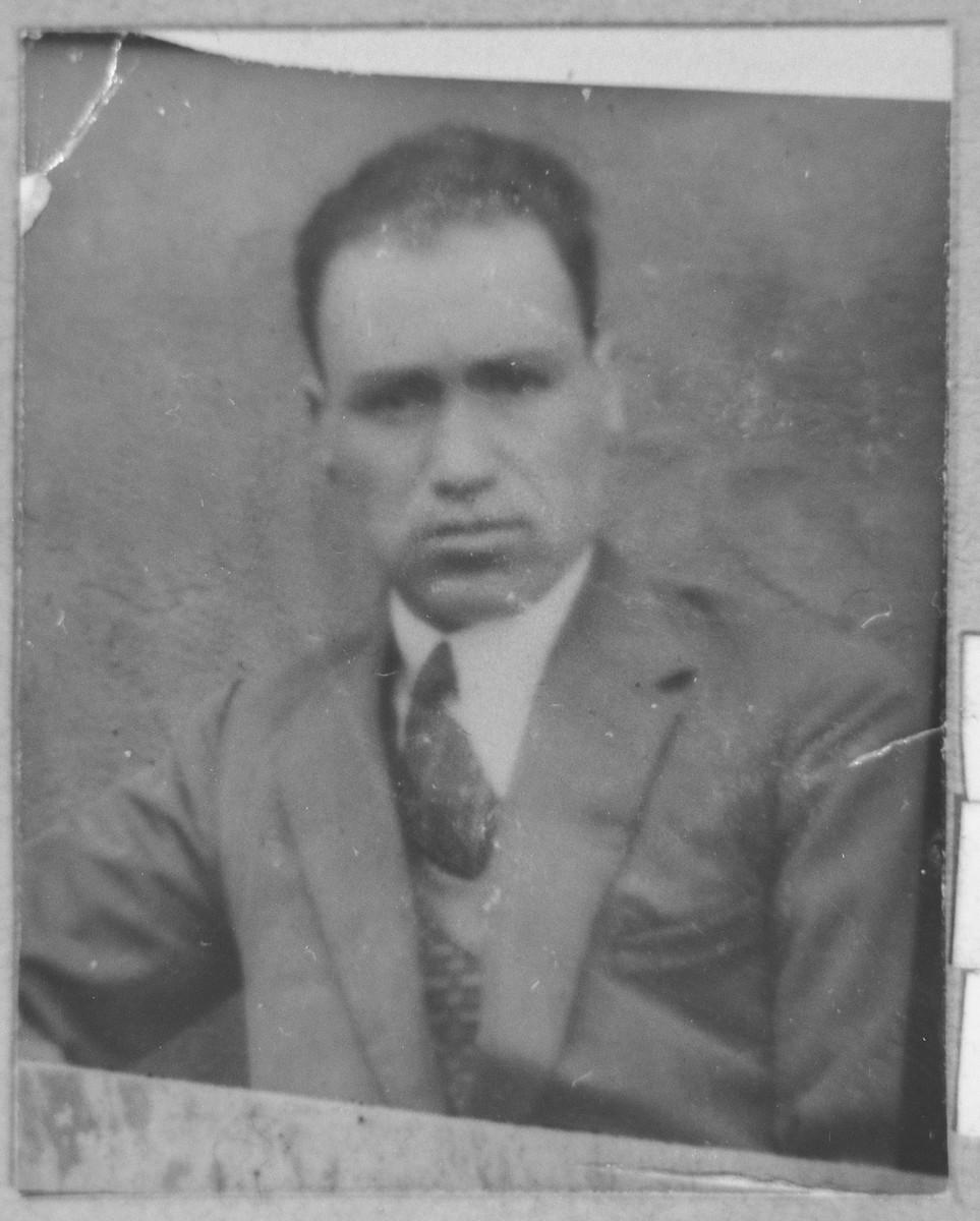 Portrait of Eliau Testa, son of Bohor Testa.  He was a merchant.  He lived on Gostivarska 4 in Bitola.
