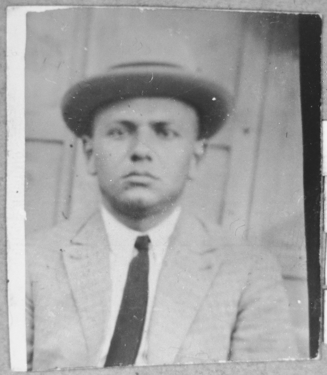 Portrait of Aron Hasson.  He was a tailor.  He lived at Zvornitska 24 in Bitola.