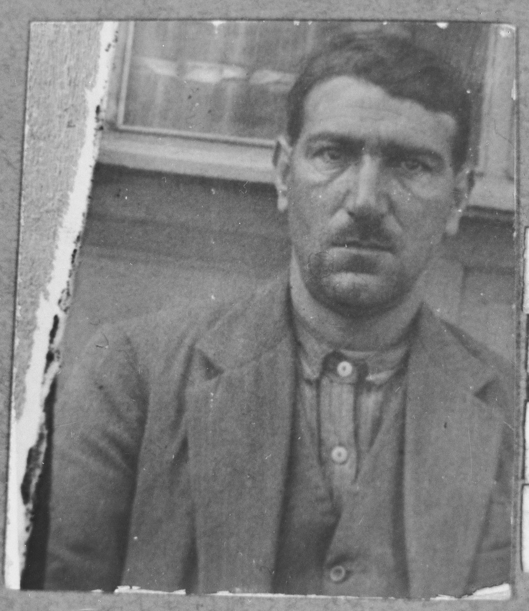 Portrait of Bohor Hasson, son of David Hasson.  He was a sackmaker.  He lived on Zmayeva in Bitola.