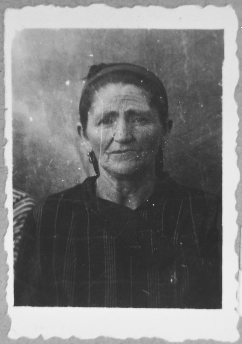 Portrait of Reina Testa, [wife of Bohor].  She lived at Gostivarska 4 in Bitola.