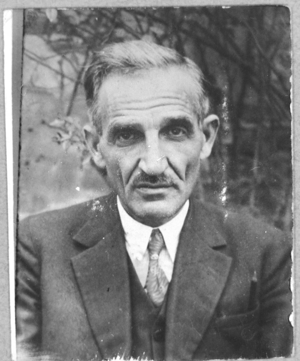 Portrait of Yosef Franko.  He was a manufacturer.  He lived on Boulevar 104