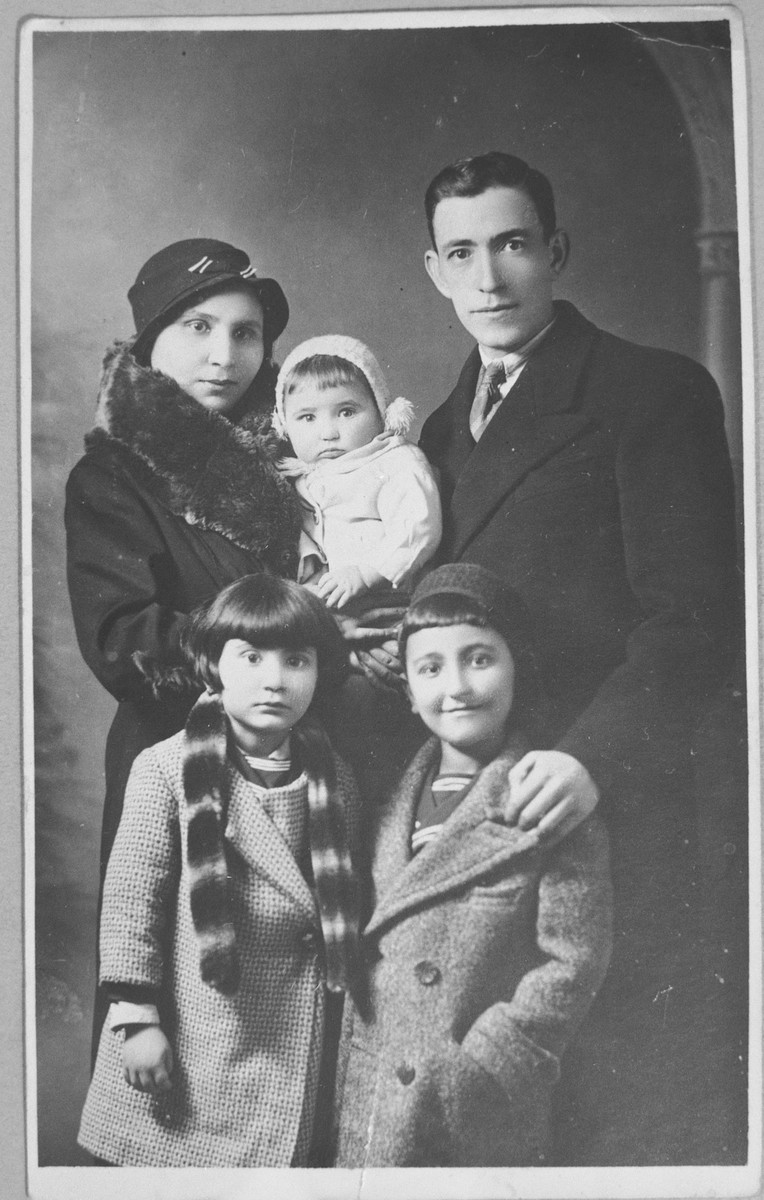 Portrait of Yakov Testa with wife and three children.