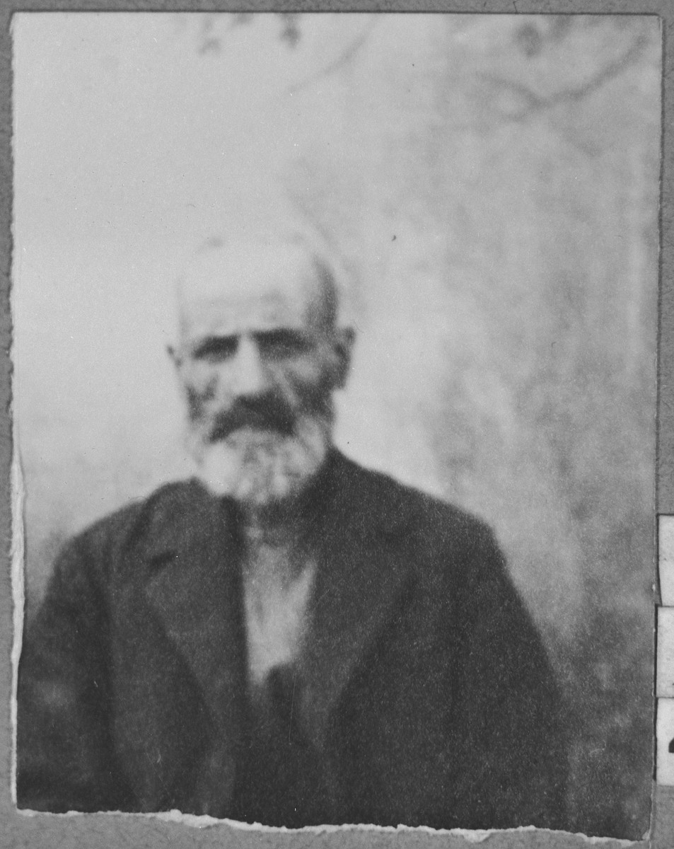Portrait of Benjamin (D.) Testa.  He lived on Dr. Raisa 132 in Bitola.