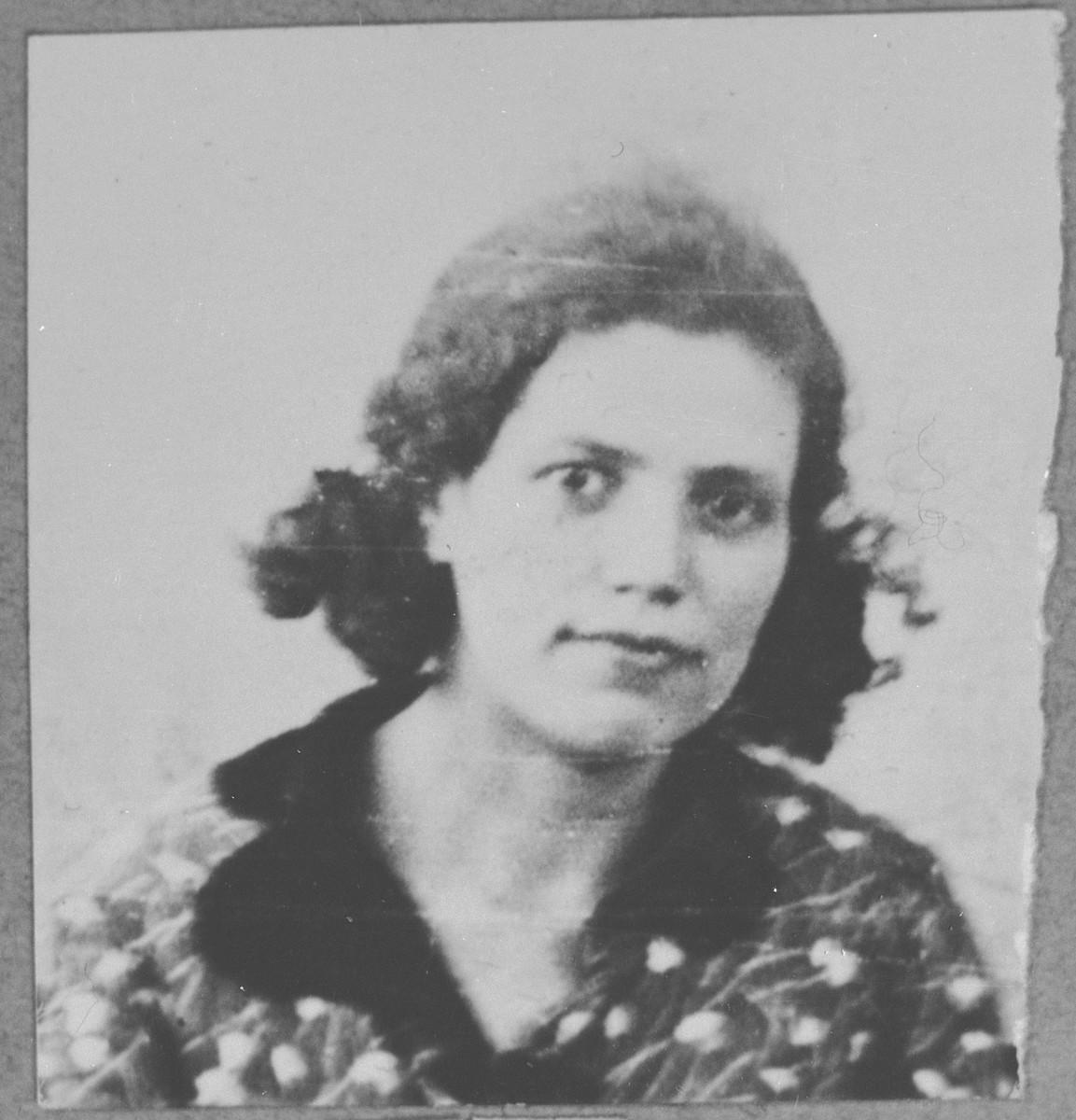 Portrait of Alegra Testa , wife of Samuel Testa.  She lived at Orisarska 13 in Bitola.