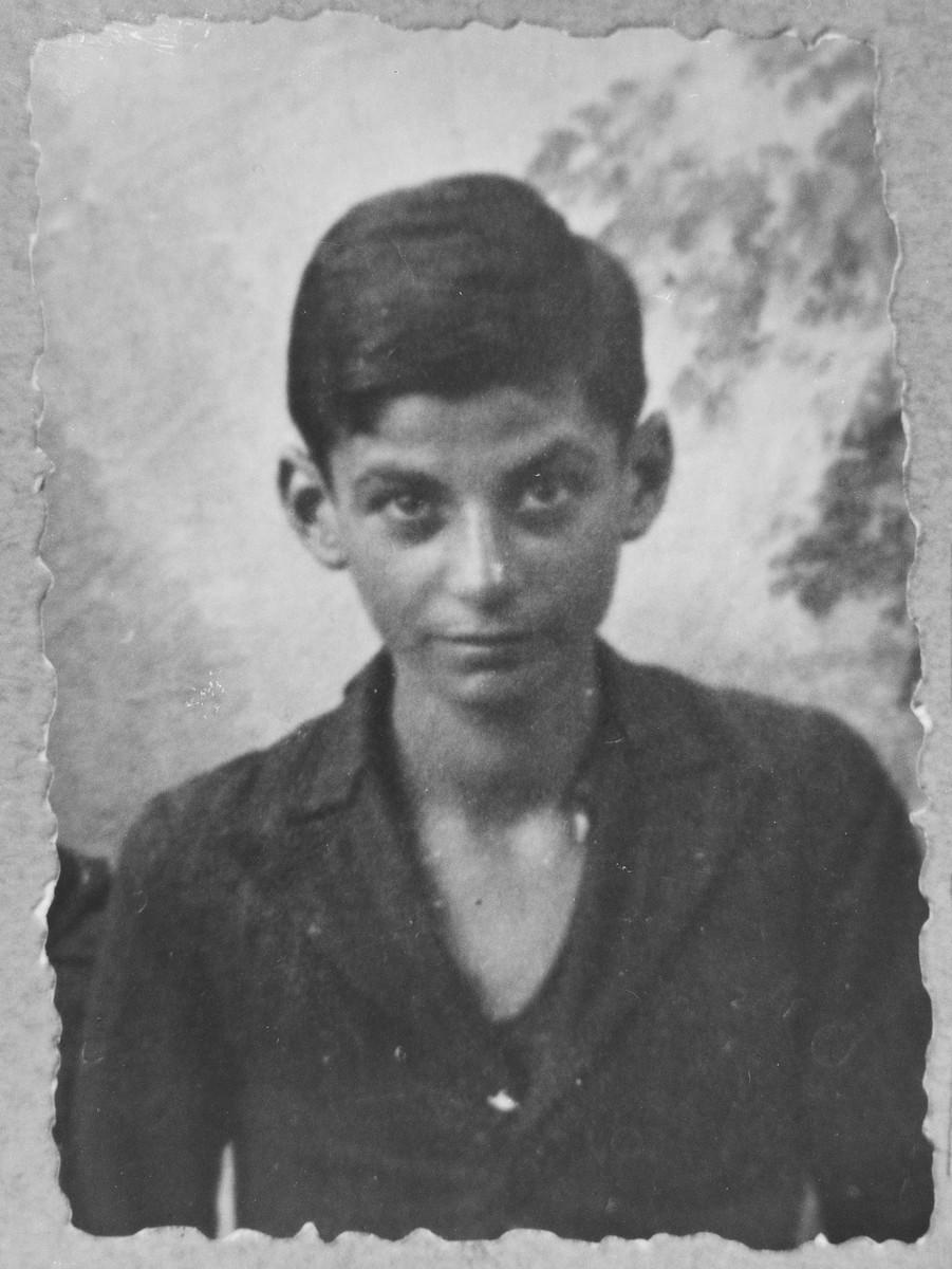 Portrait of Anri Todelano, son of Yakov Todelano.  He was a student.  He lived at Asadbegova 16 in Bitola.