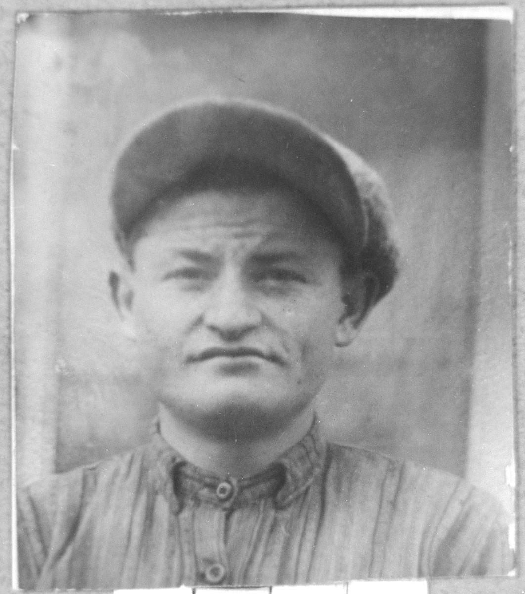 Portrait of Avram Faradji, son of David Faradji.  He was a carpenter.
