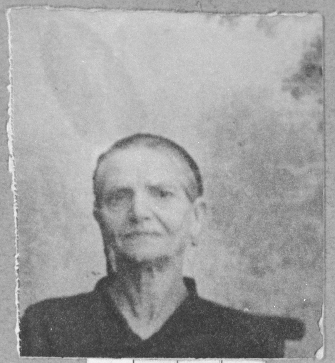 Portrait of Suncho Faradji, wife of Mushon Faradji.  She lived at Dr. Raisa 134 in Bitola.