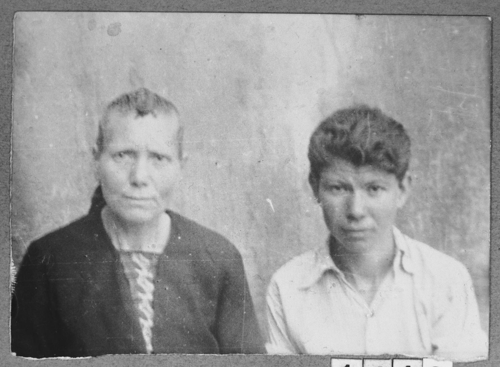 Portrait of Ester (B.) Hasson, and Leon (B.) Hasson.  Ester was a laundress and Leon, a student.  They lived at Avliya 1 in Bitola.