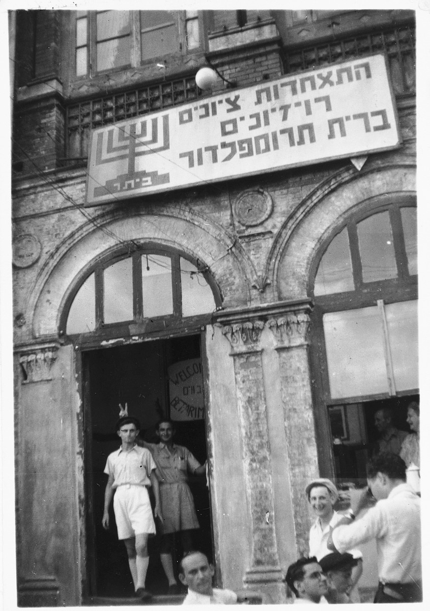 Gary Matzdorff leaves the headquarters of the Betar Zionist group in Shanghai.
