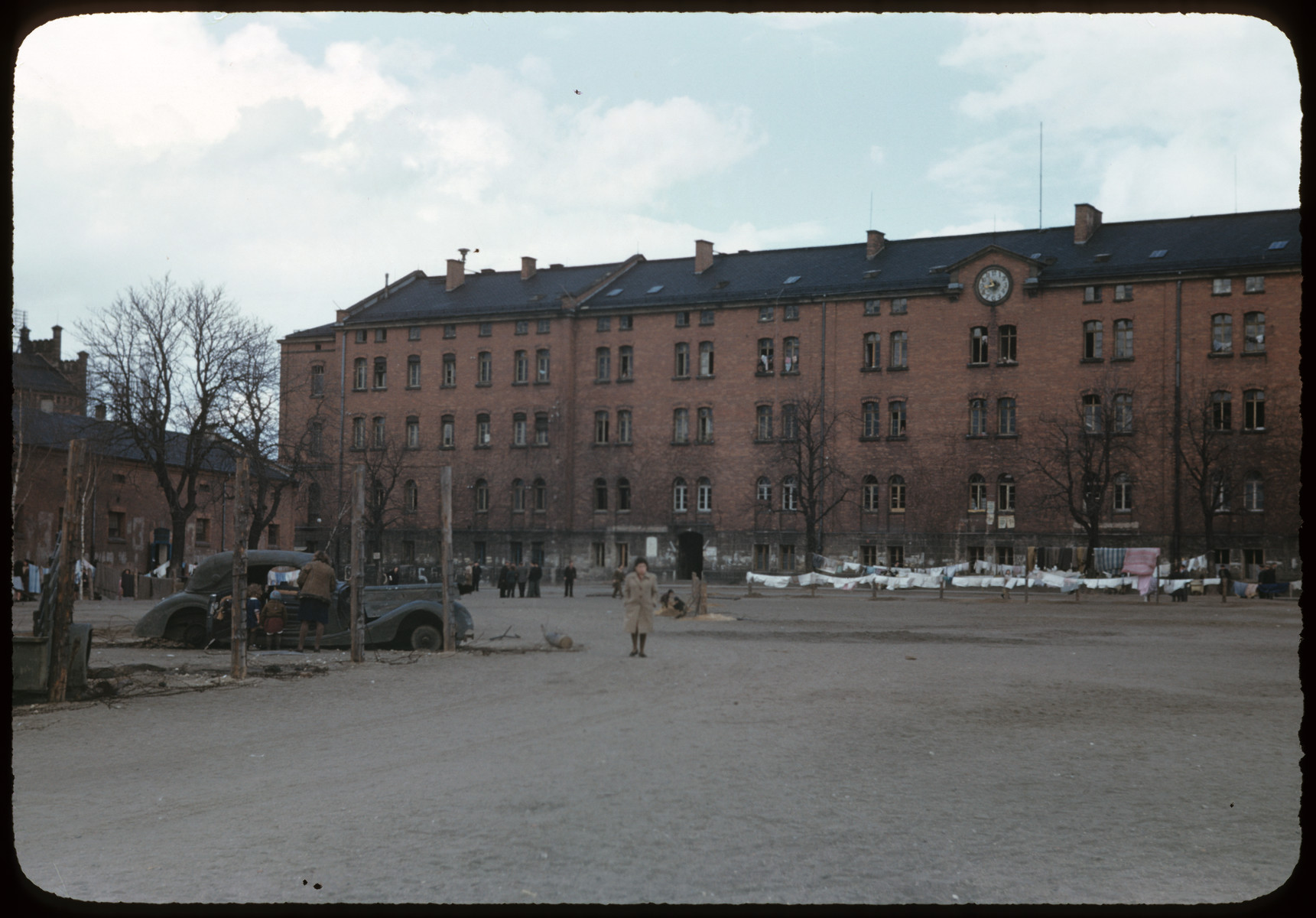 View of the Bamberg displaced person's camp (Uhlan barracks) in Germany.