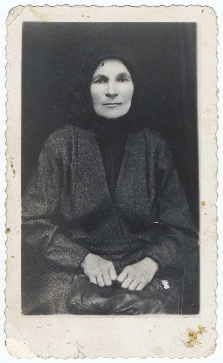 Portrait of Henya Ehrenreich, grandmother of the donor.