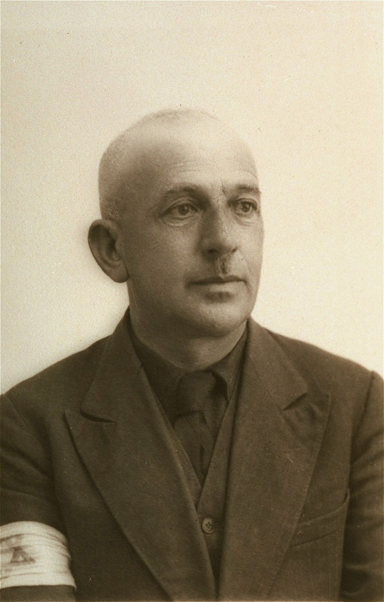 Portrait of Osias Notowicz, a member of the Jewish council in the Kolbuszowa ghetto.