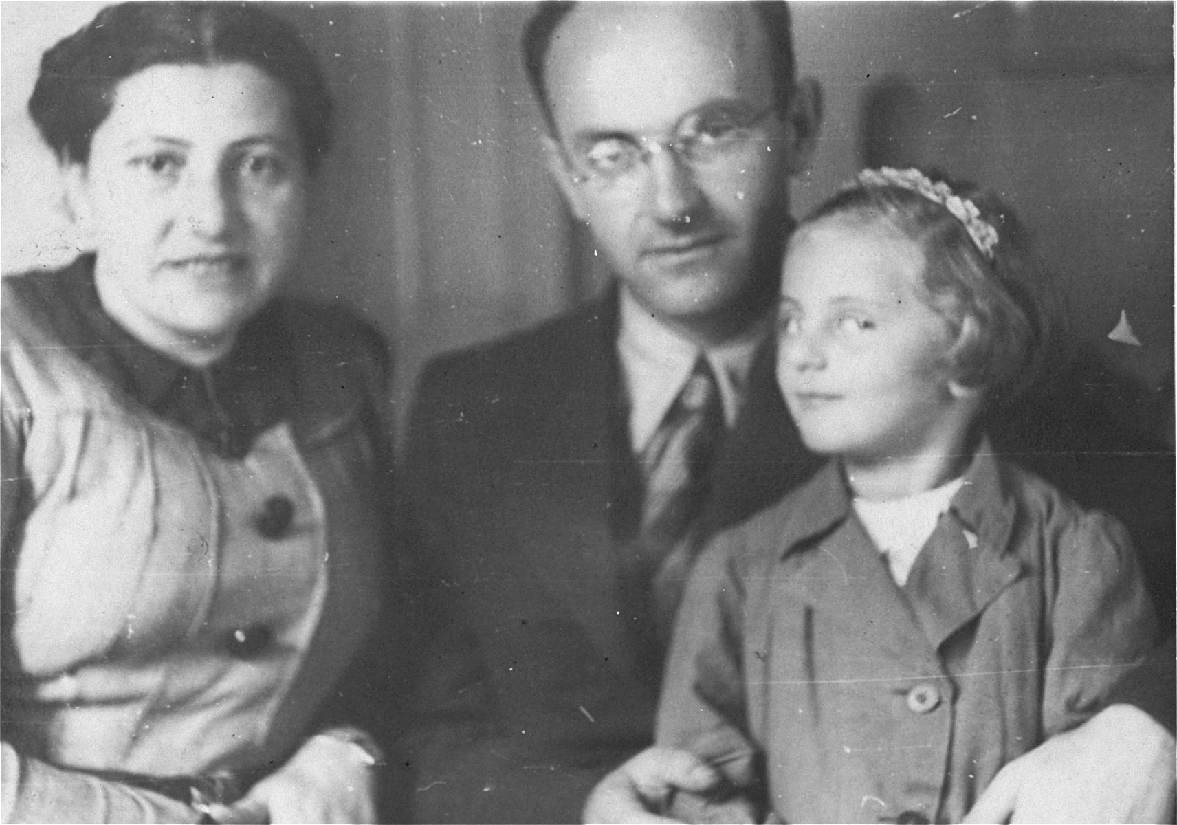 Portrait of the reunited Fischbein family after the war.