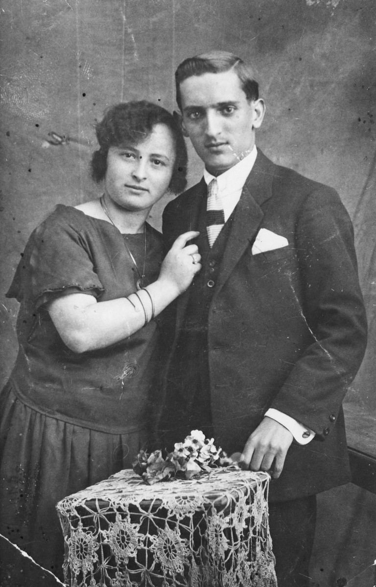 Studio portait of  a Macedonian Jewish couple.