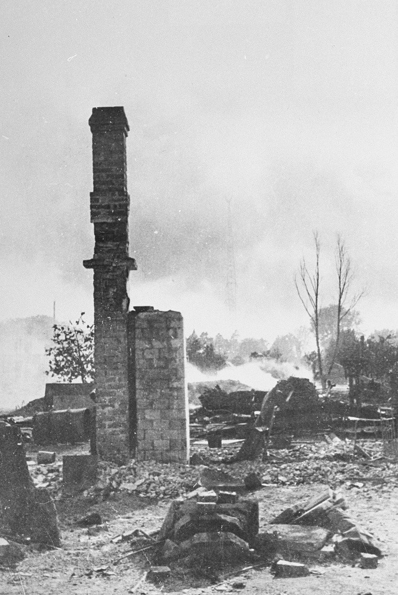 View of the destruction of Baranovichi.