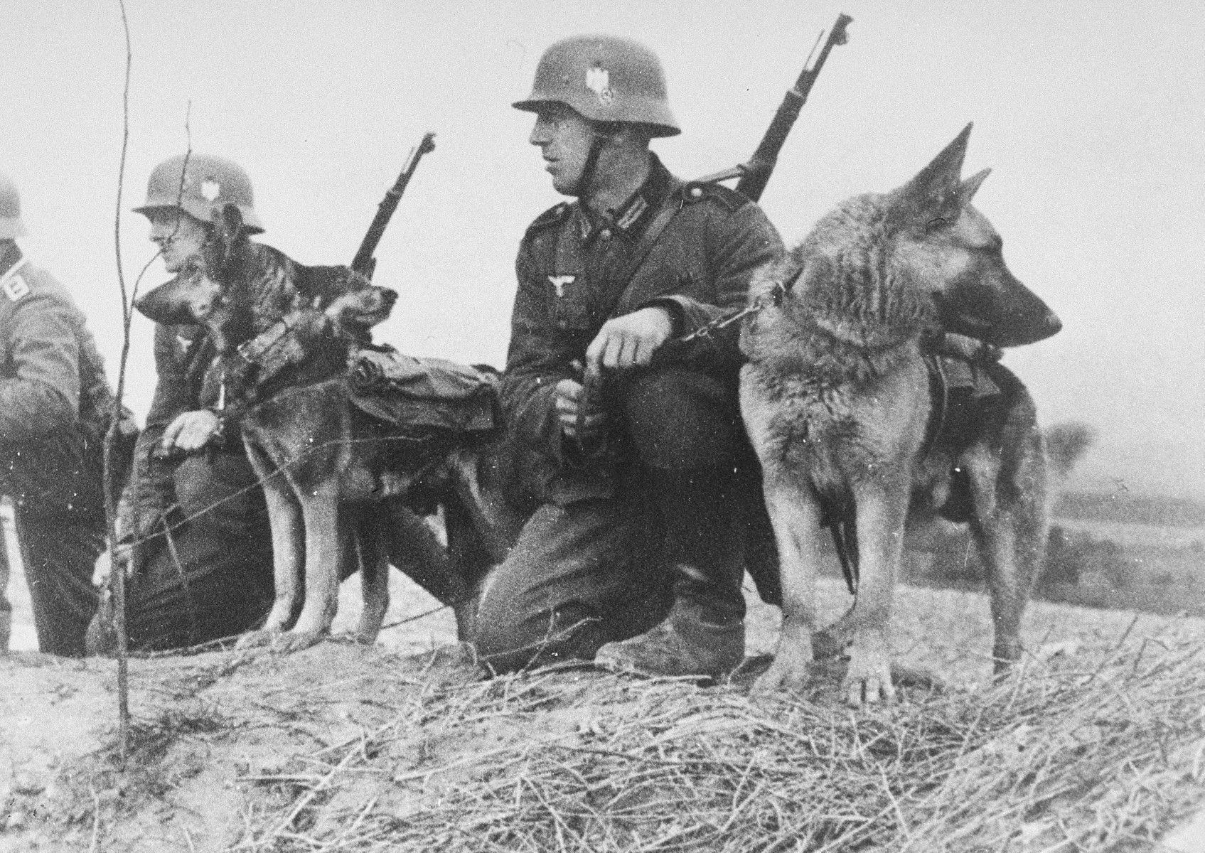 German soldiers on an anti-partisan operation.