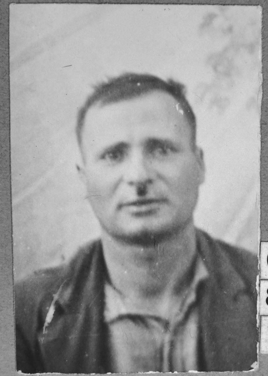 Portrait of Mordechai Massot.  He was a rag dealer.