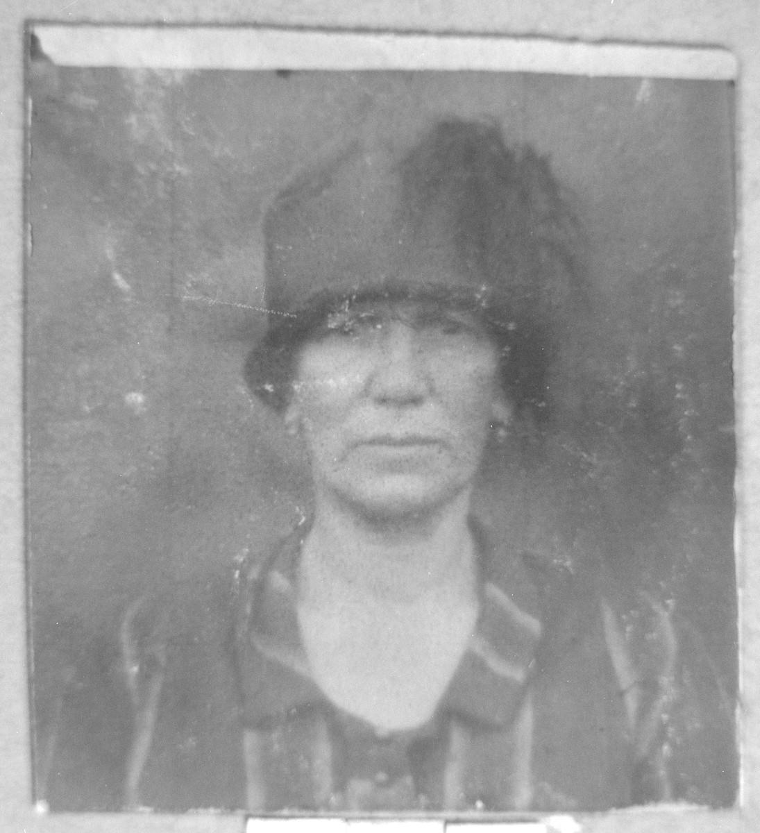 Portrait of Sara Nachmias.  She lived on Dalmatinska in Bitola.