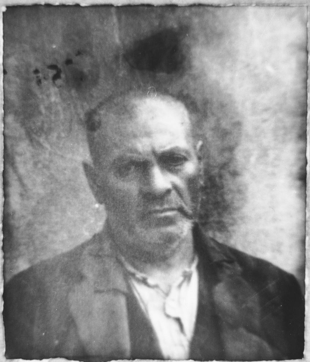 Portrait of Bohor Mishulam.  He lived at Gostivarska 13 in Bitola.