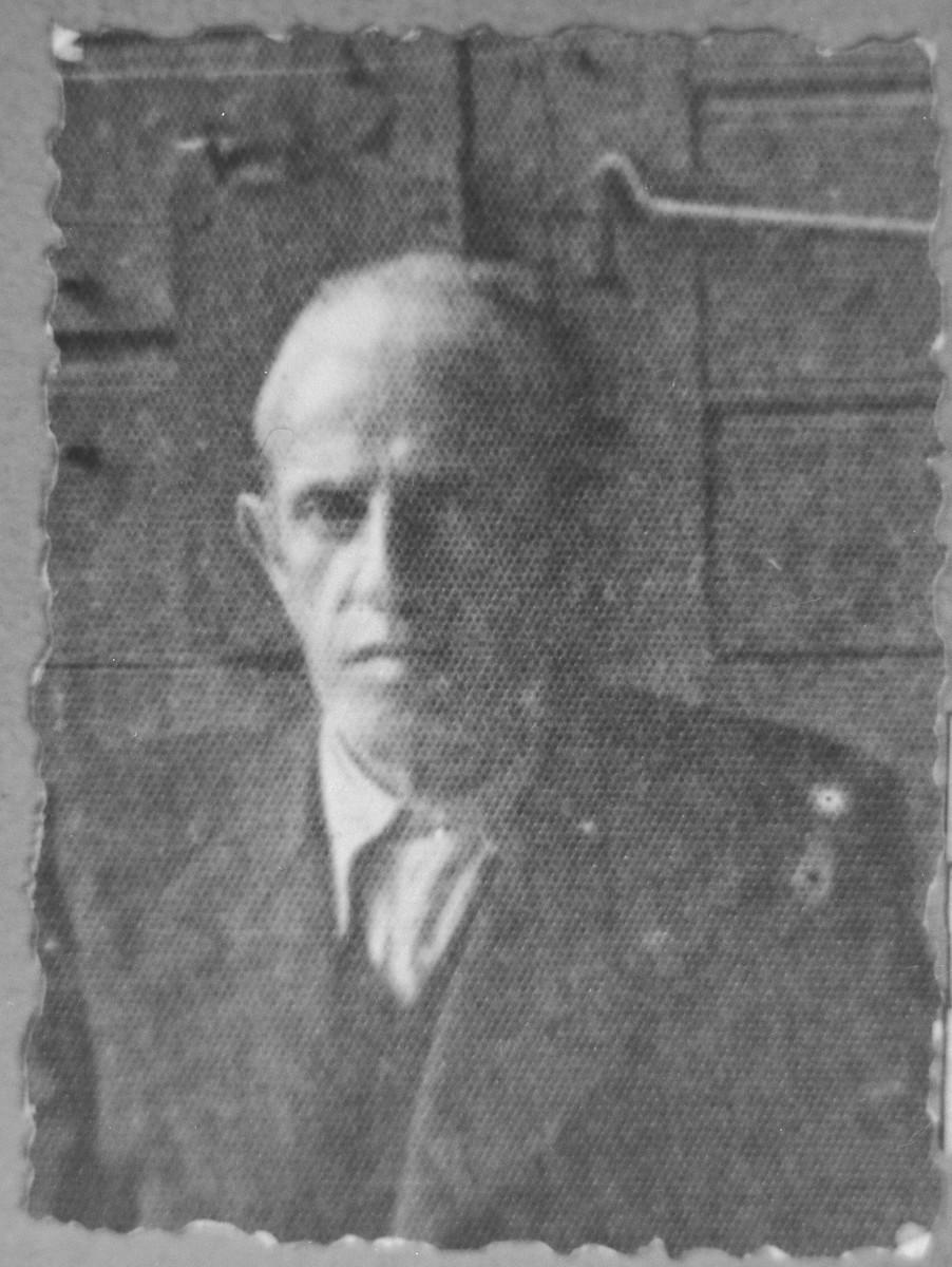 Portrait of Yakov Nachmias.  He lived at Karagoryeva 54 in Bitola.