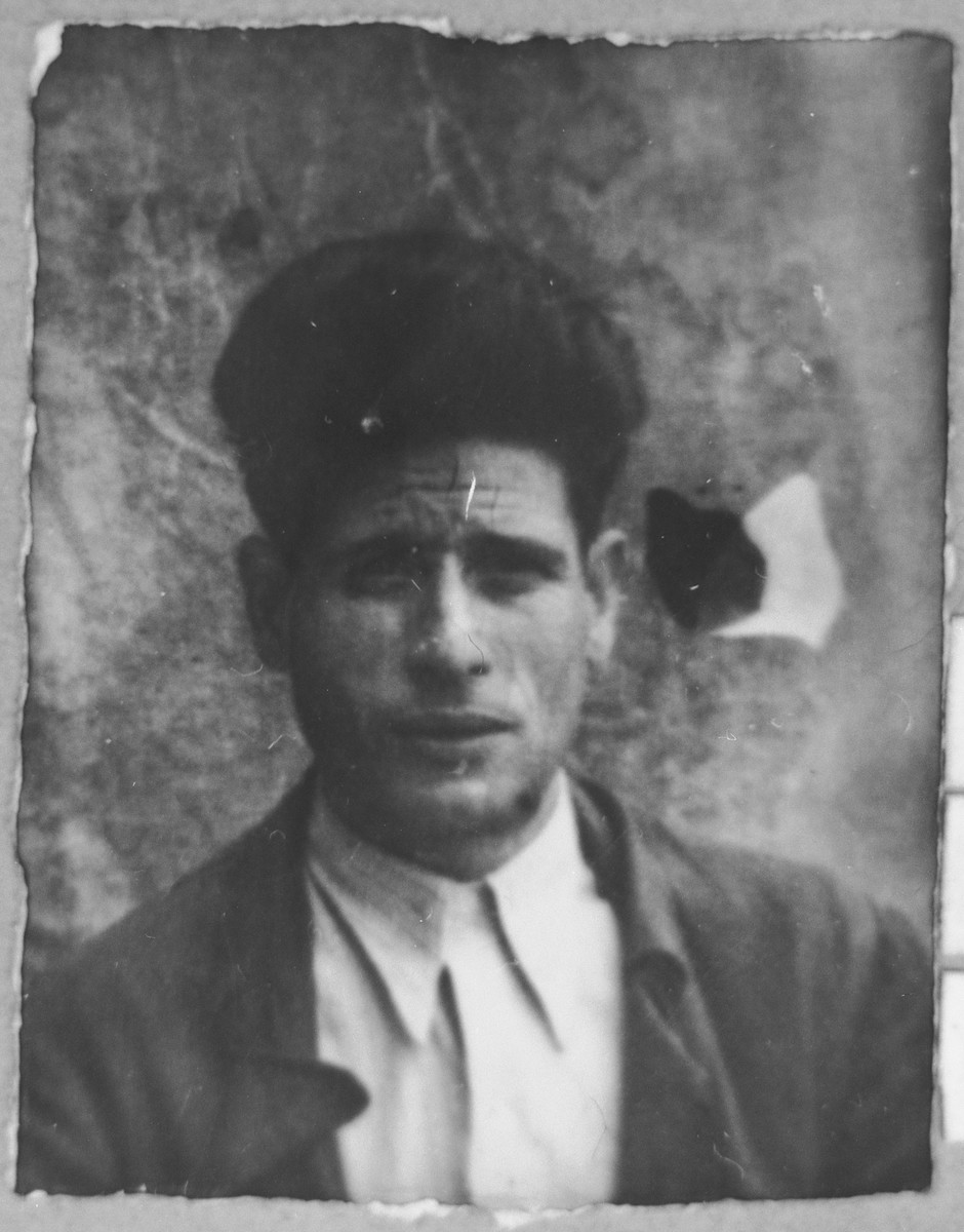 Portrait of Gabriel Massot.  He was a cafe owner.  He lived at Karagoryeva 68 in Bitola.