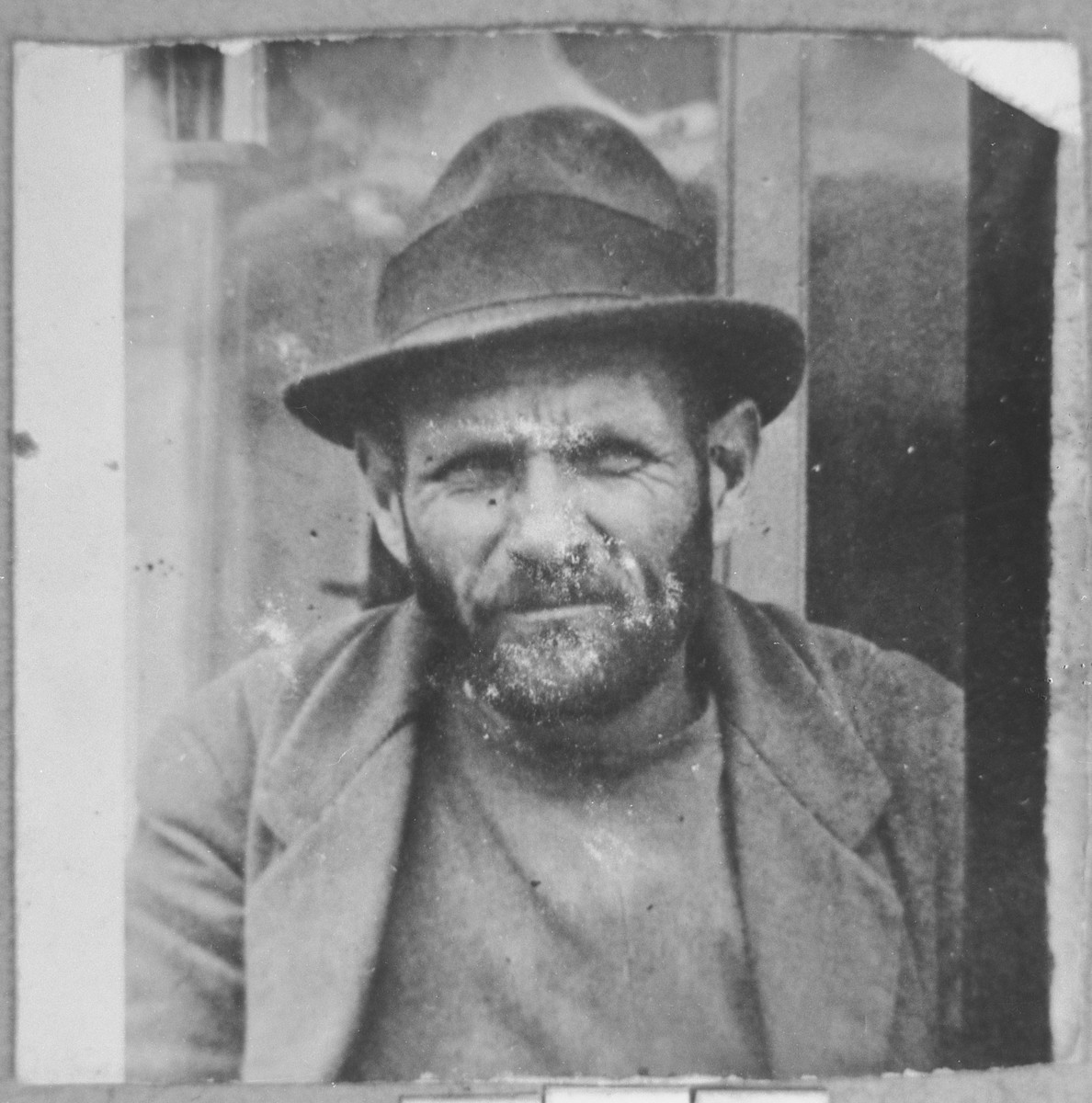 Portrait of Mordechai Mishulam.  He was a second-hand dealer.  He lived at Zmayeva 23 in Bitola.