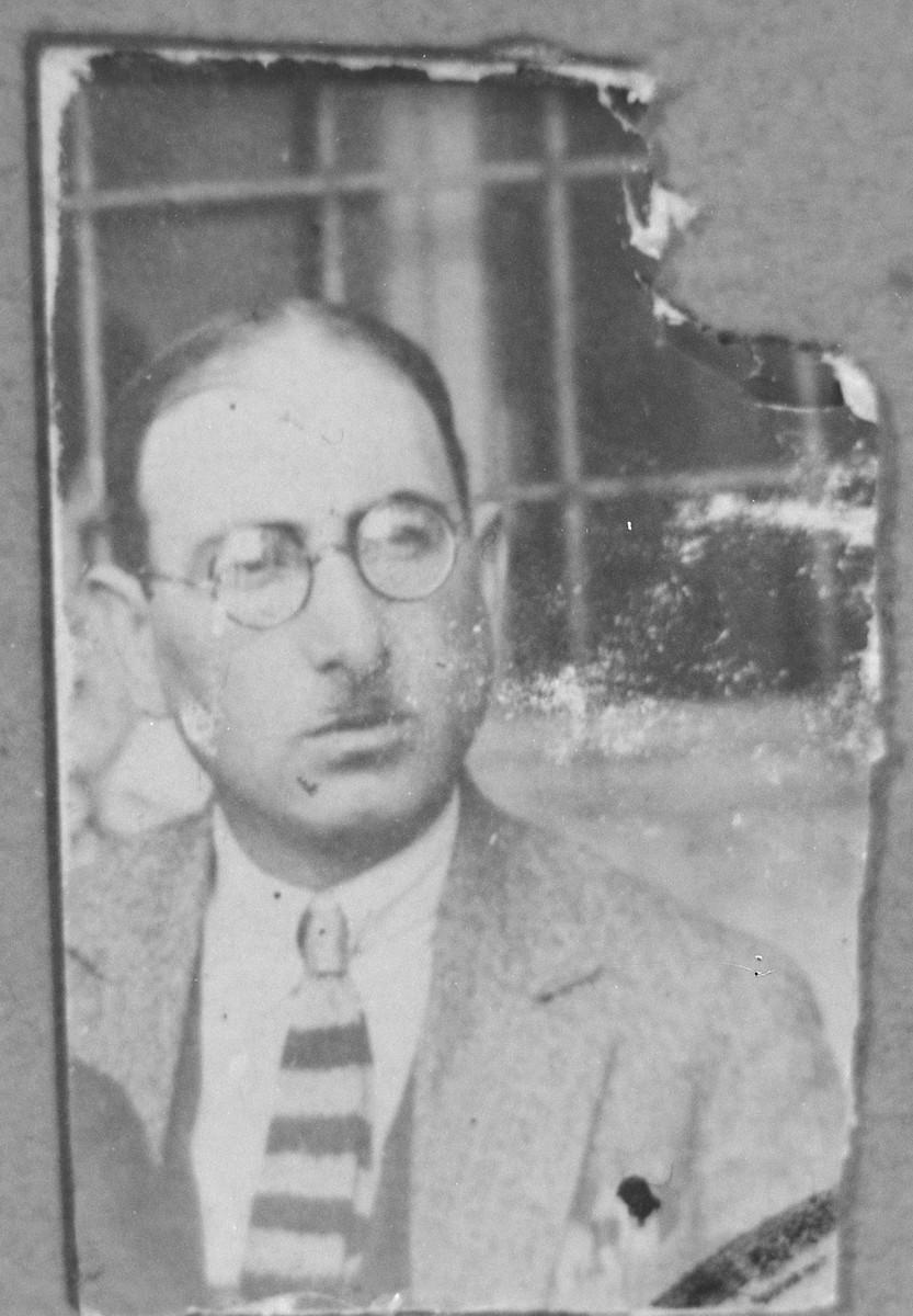 Portrait of Solomon Nehama.