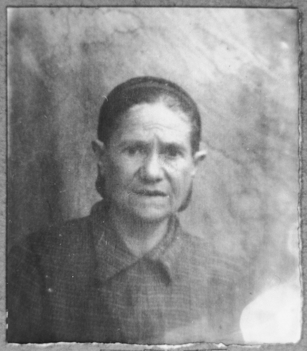 Portrait of Sara Mishulam, wife of Bohor Mishulam.  She lived at Gostivarska 13 in Bitola.