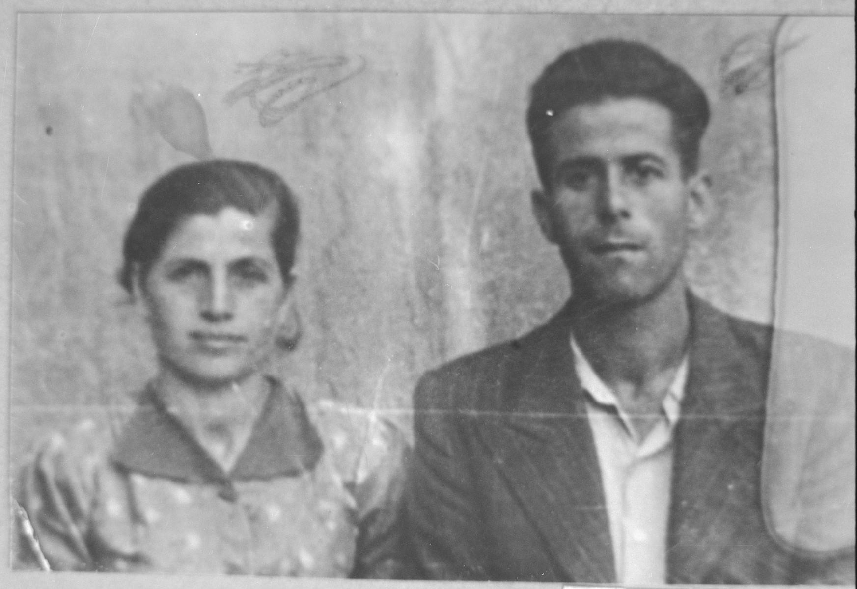 Portrait of Alberto Nachmias and Klara Nachmias.  They lived at Punika 88 in Bitola.