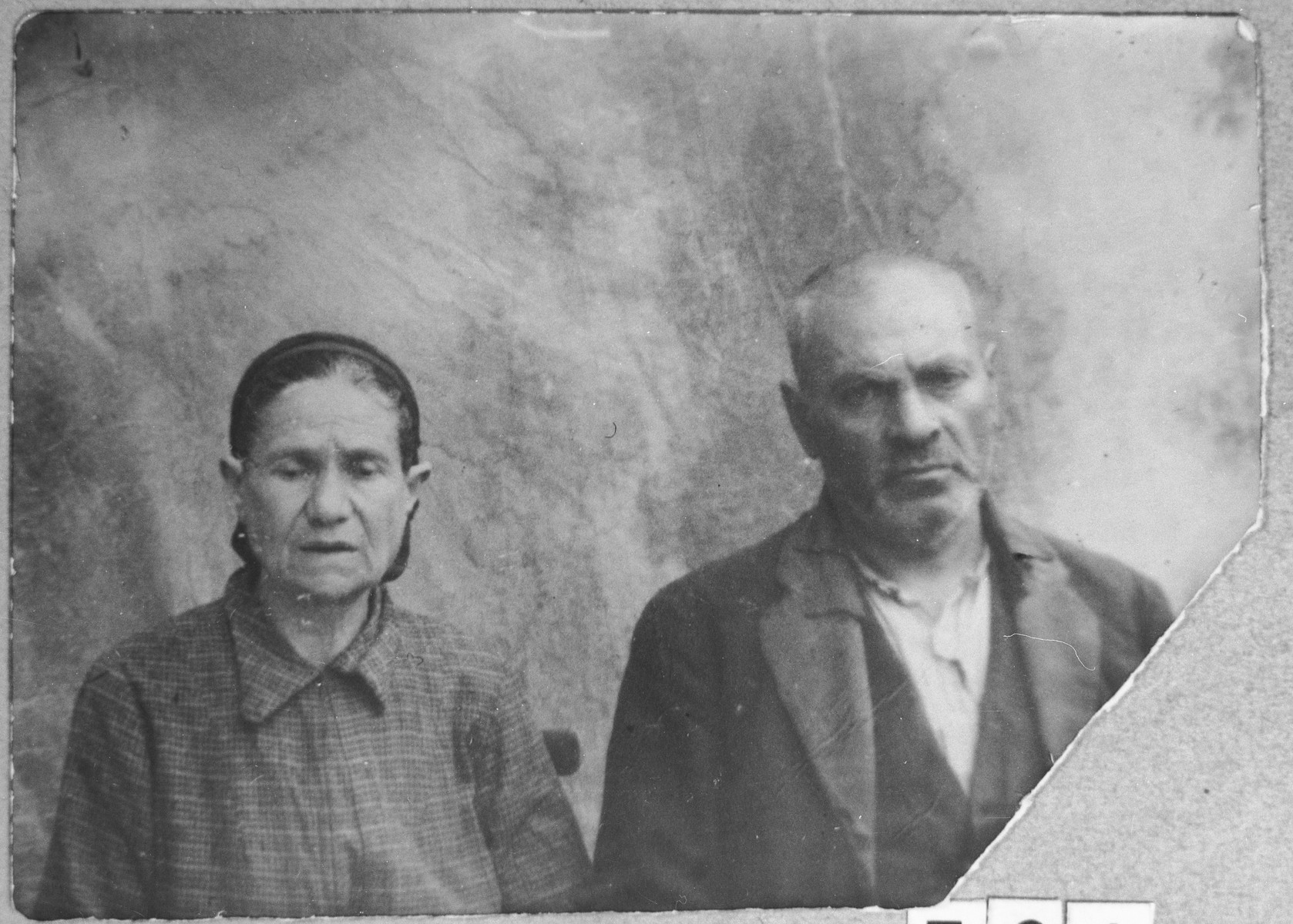 Portrait of Bohor Mishulam and his wife, Sara.  They lived at Gostivarska 13 in Bitola.