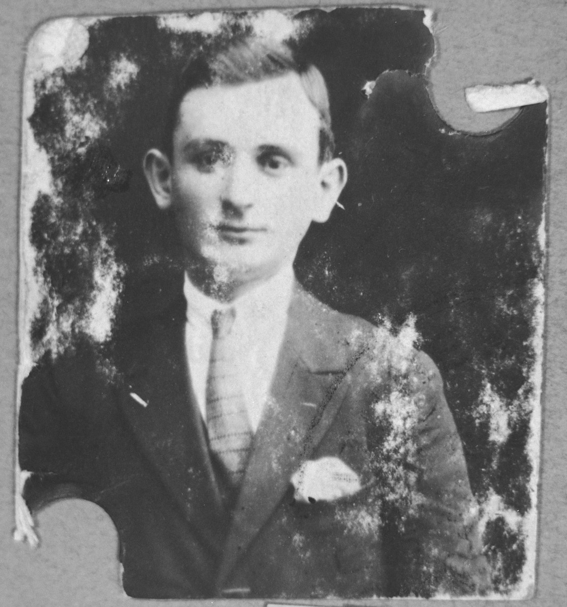 Portrait of Solomon Mosse, son of Shabetai Mosse.  He lived at Karagoryeva 111 in Bitola.