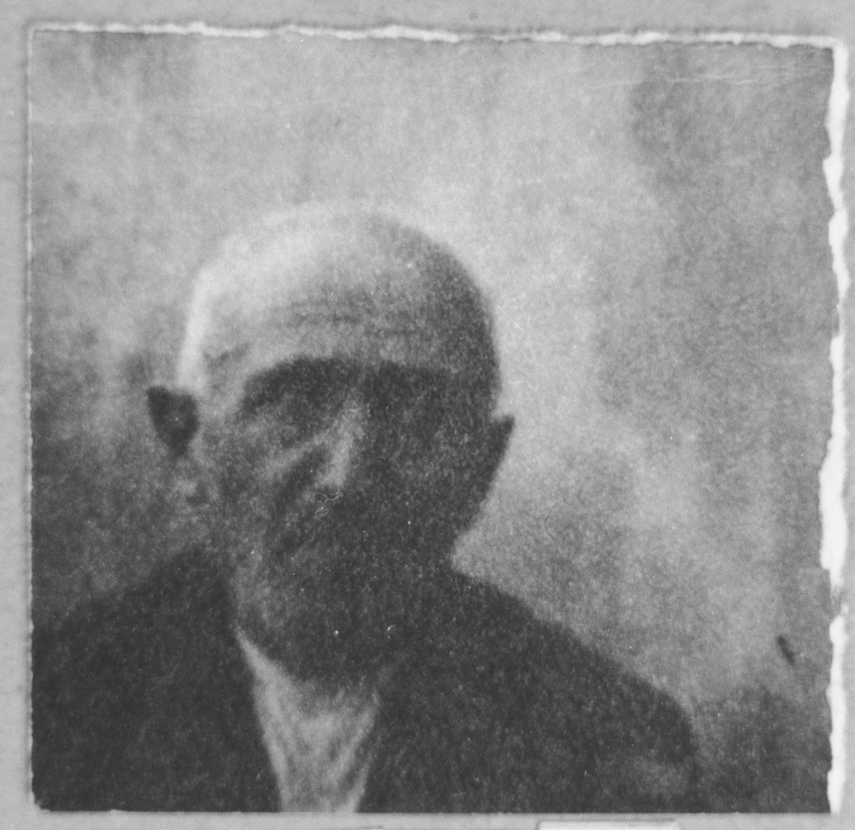 Portrait of Solomon Pesso.  He was a miller.  He lived at Dalmatinska 70 in Bitola.