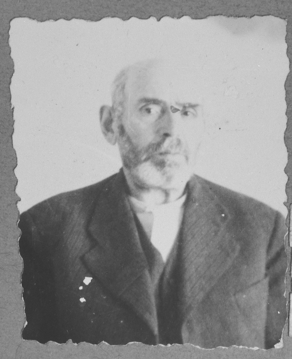 Portrait of Yakov Russo, son of Isak Russo.  He was a miller.  He lived at Gostivarska 5 in Bitola.
