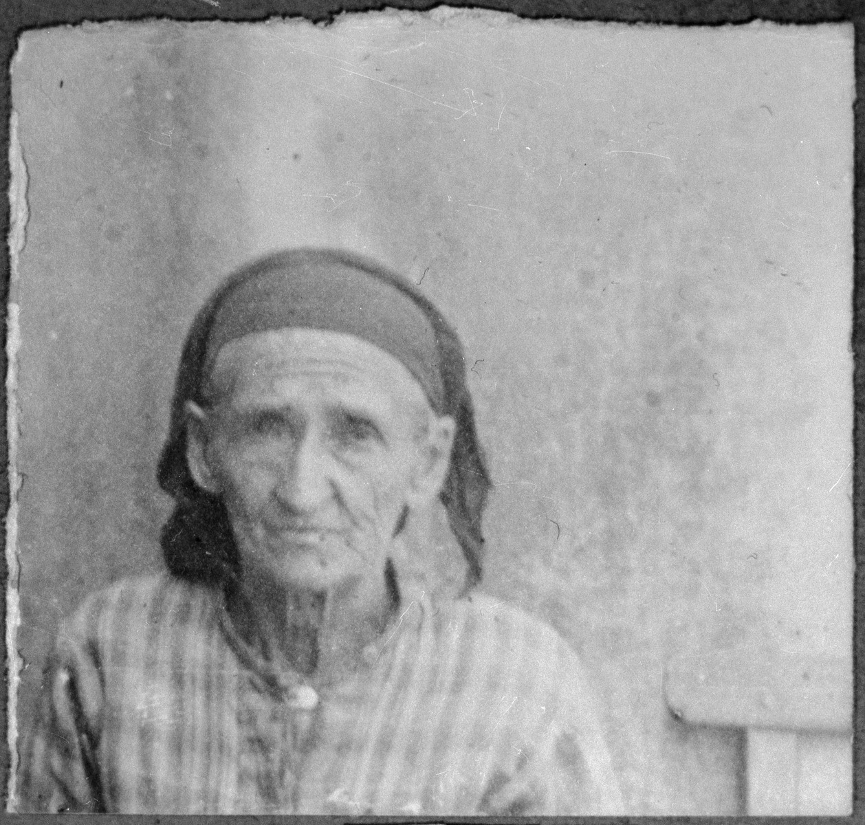 Portrait of Bohora Pesso. She lived at Drinska 119 in Bitola.