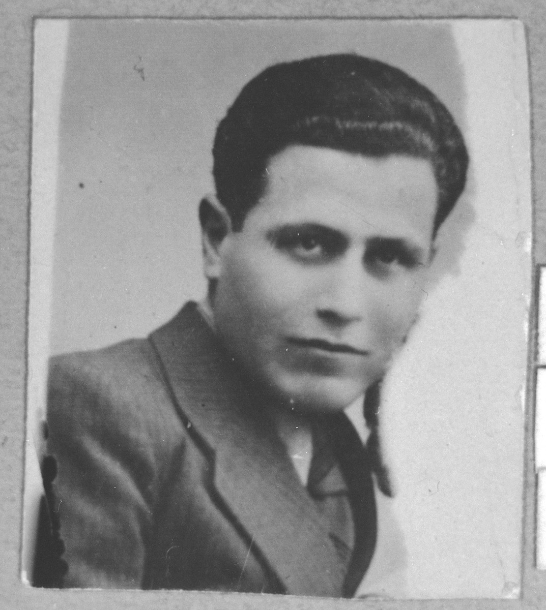 Portrait of Isak Pardo, son of Santo Pardo.  He was a second-hand dealer.  He lived at Karagoryeva 63 in Bitola.