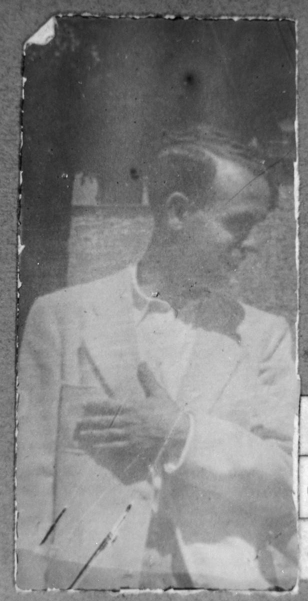 Portrait of Haim Pardo, son of Mushon Pardo.  He was a merchant.  He lived at Karagoryeva 56 in Bitola.