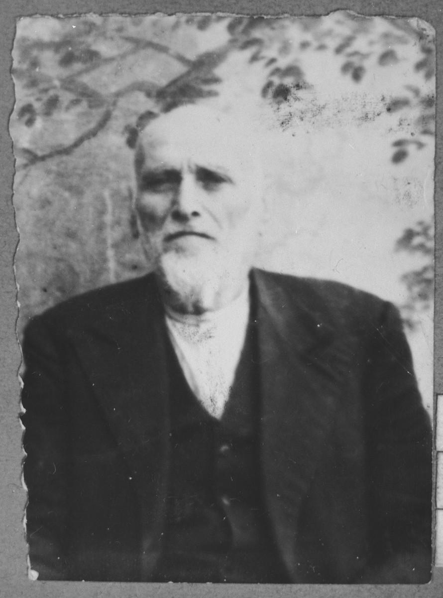 Portrait of Sava Pesso.  He was a manufacturer.  He lived at Zvornitska 13 in Bitola.