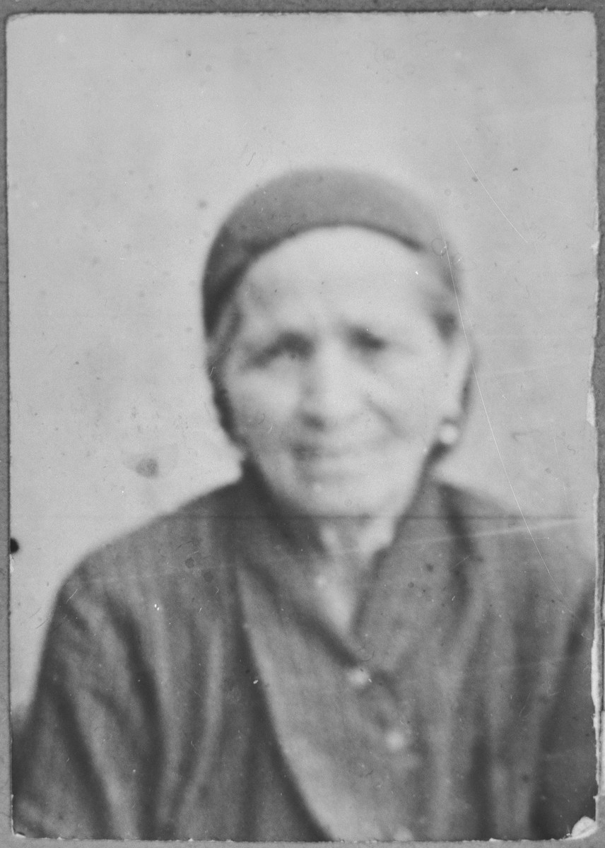 Portrait of Hana Pesso, wife of Bohor Pesso.
